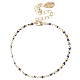 ONE DAY charity bracelet  blue (14k plated geelgoud  of  witgoud)