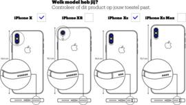 Iphone XS / X  hoesje met koord ( kies je kleur koord)