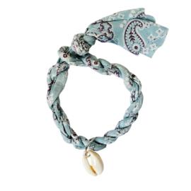 Jozemiek armband Bandana - Lichtblauw