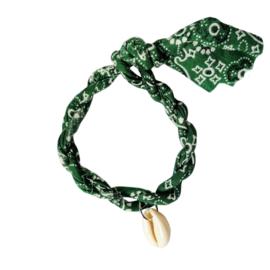 Jozemiek armband Bandana - Groen