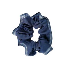 Scrunchie lint blauw