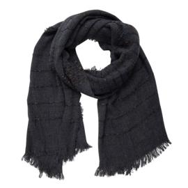 Jozemiek  Shawl  black / antraciet stripe 1&1 gratis