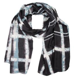 Sjaal dip dye blauw -licht blauw
