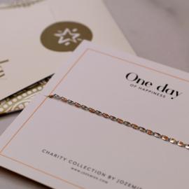 ONE DAY charity bracelet  orange (14k plated geelgoud  of  witgoud)