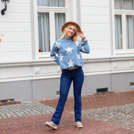 Jozemiek Flared Jeans Anke - denim blauw