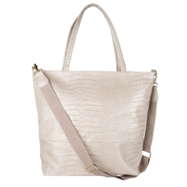 Croco Shopper -Beige
