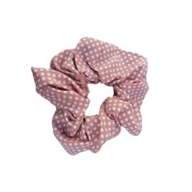 Scrunchie stippen roze