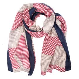 Sjaal ruitjes rood