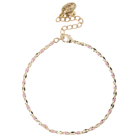 ONE DAY charity bracelet  Pink (14k plated geelgoud  of  witgoud)