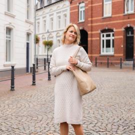 Jozemiek gebreide jurk Ines - beige