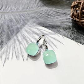 Jozemiek Stone earring Mint - Zilver