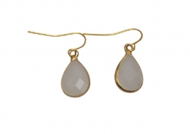DARE TO BE FABULOUS  earring teardrop off white small