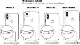 Iphone XR hoesje met koord ( kies je kleur koord )