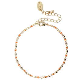 ONE DAY charity bracelet  orange (14k plated geelgoud  of  witgoud)