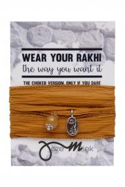 Rakhi choker /wrapbracelet oker