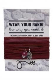 Rakhi choker /wrapbracelet Bordeaux