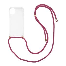 Iphone 11 hoesje met koord (kies je kleur koord)