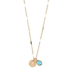 Jozemiek BASIC 20  SET ketting met letter  stainless steel, 14k goud plating