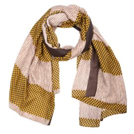 Sjaal ruitjes oker