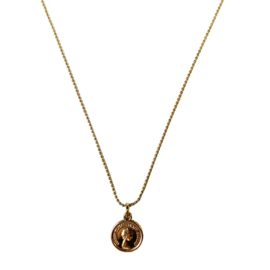 Vintage Gold Necklace  coin