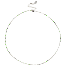 ONE DAY charity necklace green (14k geelgoud  of  witgoud)