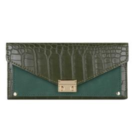 Croco portemonnee groot- Groen