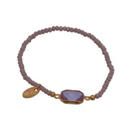 Jozemiek Embrace Minimalistic Cristal Stone Square Purple