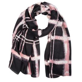 Sjaal dip dye roze