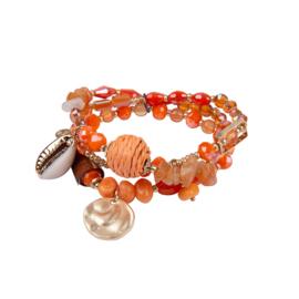 Jozemiek Armbandenset Schelp - Coral