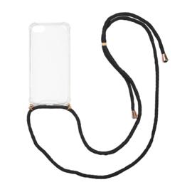 Iphone 7/8  hoesje met koord (kies je kleur koord )