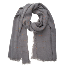 Jozemiek  Shawl grey stripe 1& 1 gratis