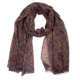 Sjaal paisley -bruin