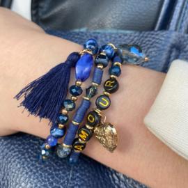 Jozemiek Armbandenset AMOUR- blauw
