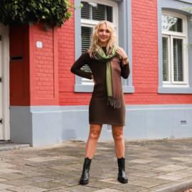 Jozemiek gebreide jurk Saskia - bruin