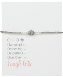 Jozemiek Naturel Stone Bracelet Grey l LIMITED EDITION