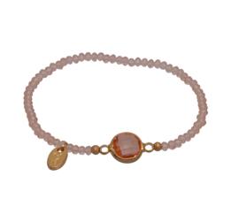 Jozemiek Embrace Minimalistic Cristal Stone Circle Copper