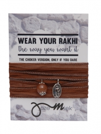 Rakhi choker /wrapbracelet Sepia