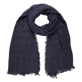 Jozemiek  Shawl  navy stripe