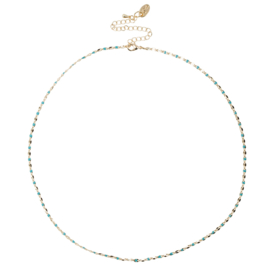 ONE DAY charity necklace aqua (14k geelgoud  of  witgoud)