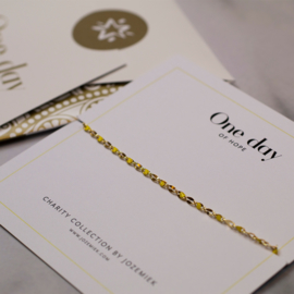 ONE DAY charity bracelet yellow ( 14k  plated geelgoud  of  witgoud)