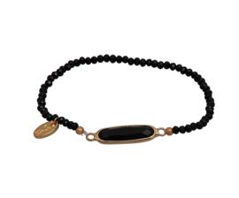 Jozemiek Embrace Minimalistic Cristal Stone Bar Black