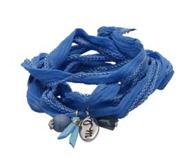 Rakhi classic choker /wrapbracelet  Lapis blue