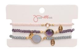 Jozemiek Minimalistic Embrace Cristal Stone 3pcs set 6