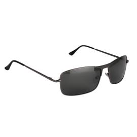 Jozemiek Rechthoekige Zonnebril - grijs montuur