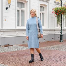 Jozemiek gebreide jurk Ines - blauw