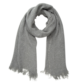 Jozemiek  Shawl grey dots