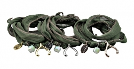Rakhi: Deep Lichen Green, Love & Loyal (2PCS)