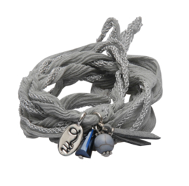 Rakhi classic choker /wrapbracelet  Magic grey