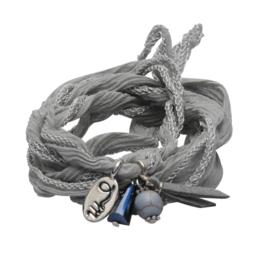 Rakhi classic choker /wrapbracelet  Magic grey