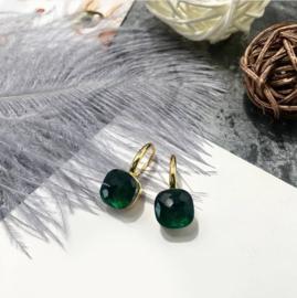 Jozemiek Stone earring Donkergroen - goud of zilver